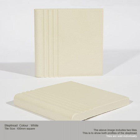Step Tread Tile - White