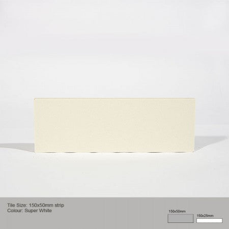 Rectangle Tile - Super White