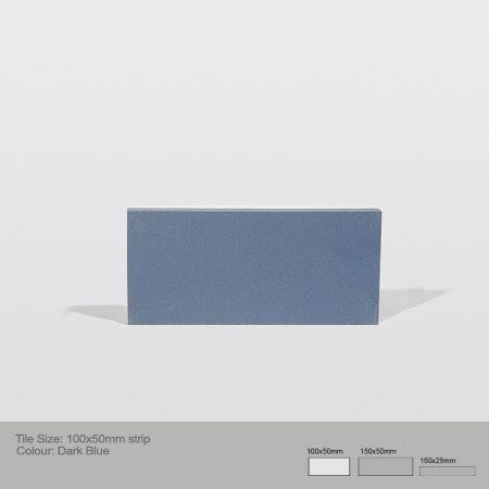 Rectangle Tile - Dark Blue
