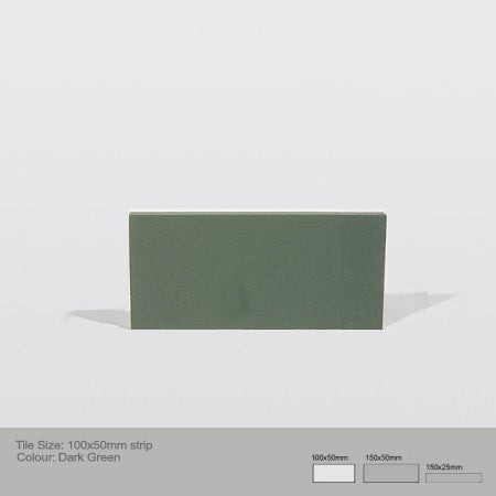 Rectangle Tile - Dark Green
