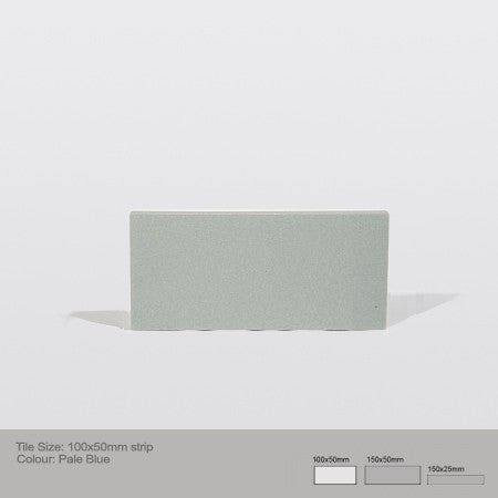 Rectangle Tile - Pale Blue
