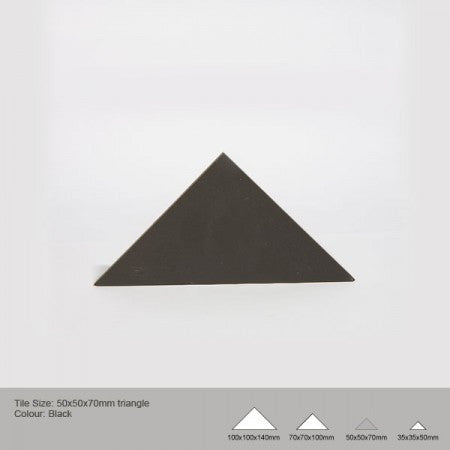 Triangle Tile - Black