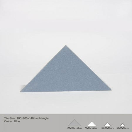 Triangle Tile - Blue