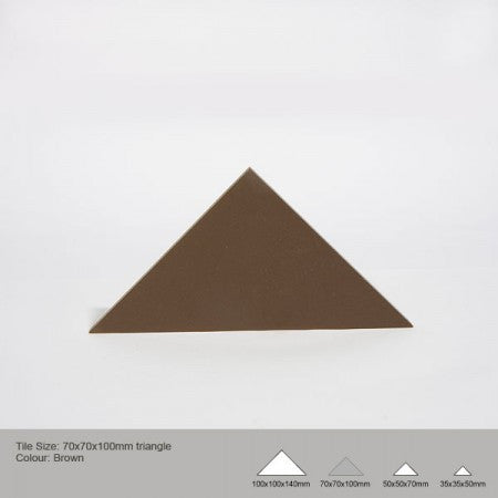 Triangle Tile - Brown