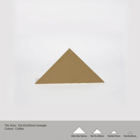Triangle Tile - Coffee