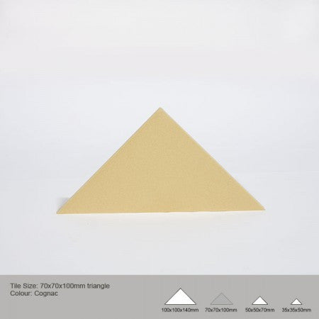 Triangle Tile - Cognac