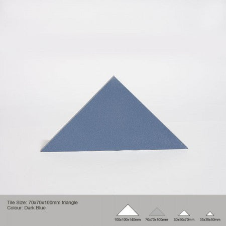 Triangle Tile - Dark Blue