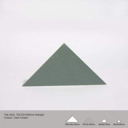 Triangle Tile - Dark Green