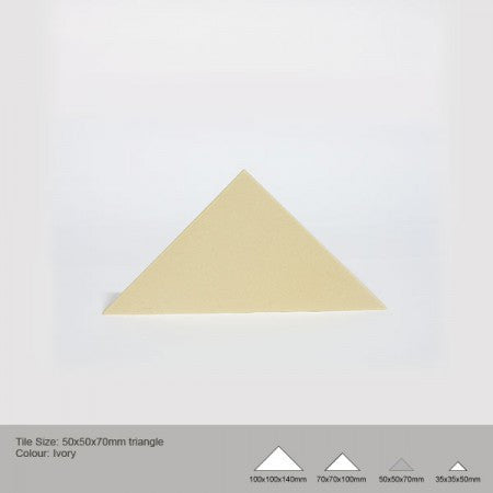 Triangle Tile - Ivory