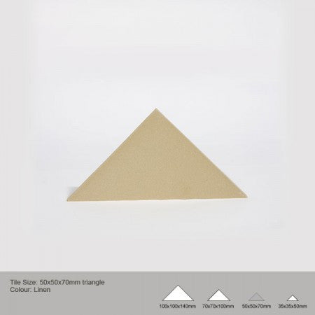 Triangle Tile - Linen
