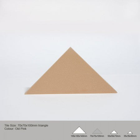 Triangle Tile - Old Pink