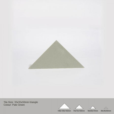 Triangle Tile - Pale Green