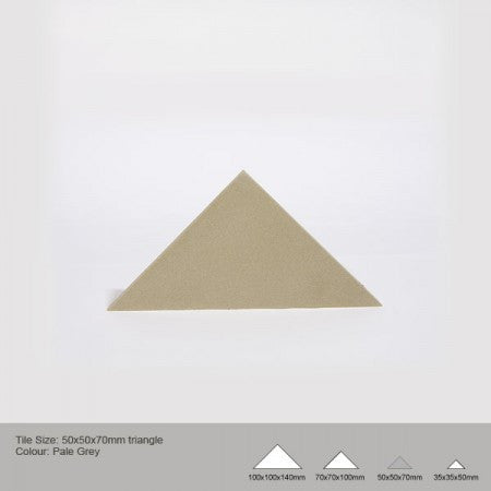 Triangle Tile - Pale Grey