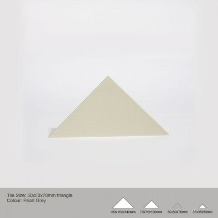 Triangle Tile - Pearl Grey