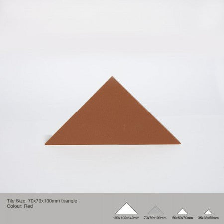 Triangle Tile - Red