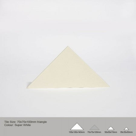 Triangle Tile - Super White