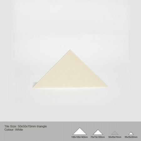 Triangle Tile - White