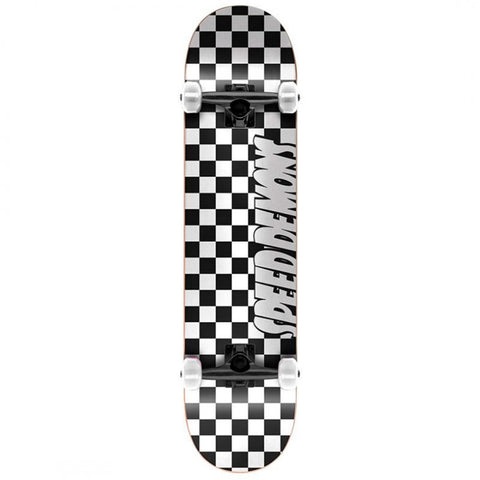 Speed Demons Checkers Black White - 8.0""