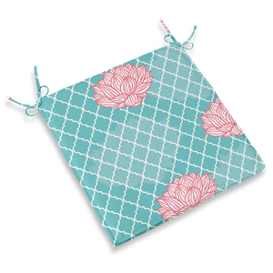CHAIR PAD - LOTUS AQUA
