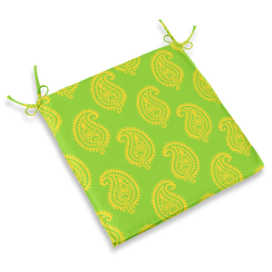 CHAIR PAD - PAISLEY LIME