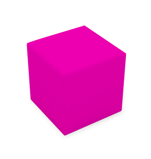 CUBE STOOL - HOT PINK