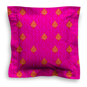 XL SQUARE - LEAVES HOT PINK