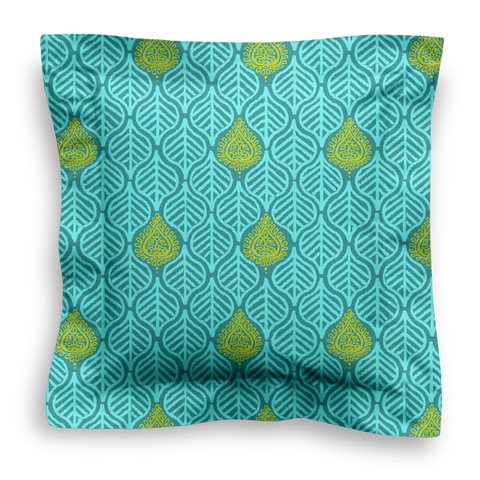 SQUARE - LEAVES TEAL