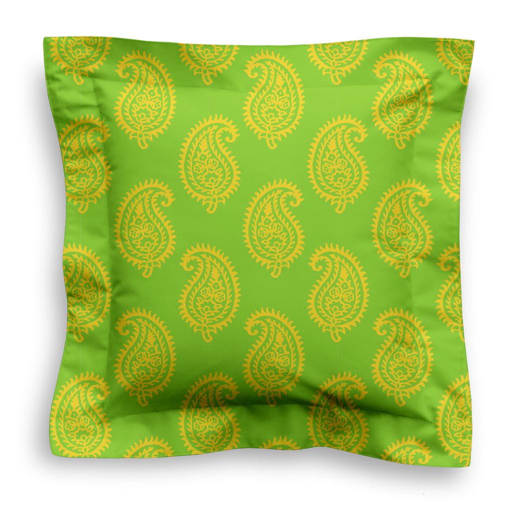 SQUARE - PAISLEY LIME