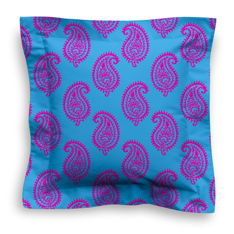 SQUARE - PAISLEY TURQUOISE