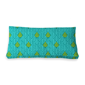 RECTANGULAR - LEAVES TEAL