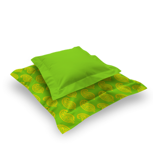 XL SQUARE - PAISLEY LIME