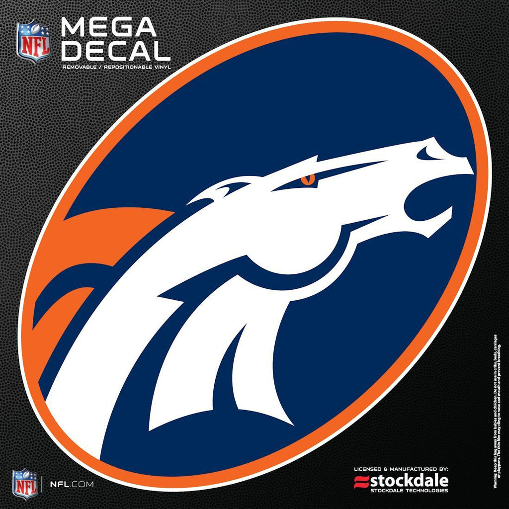 "Denver Broncos 12""x12"" Mega Decal"