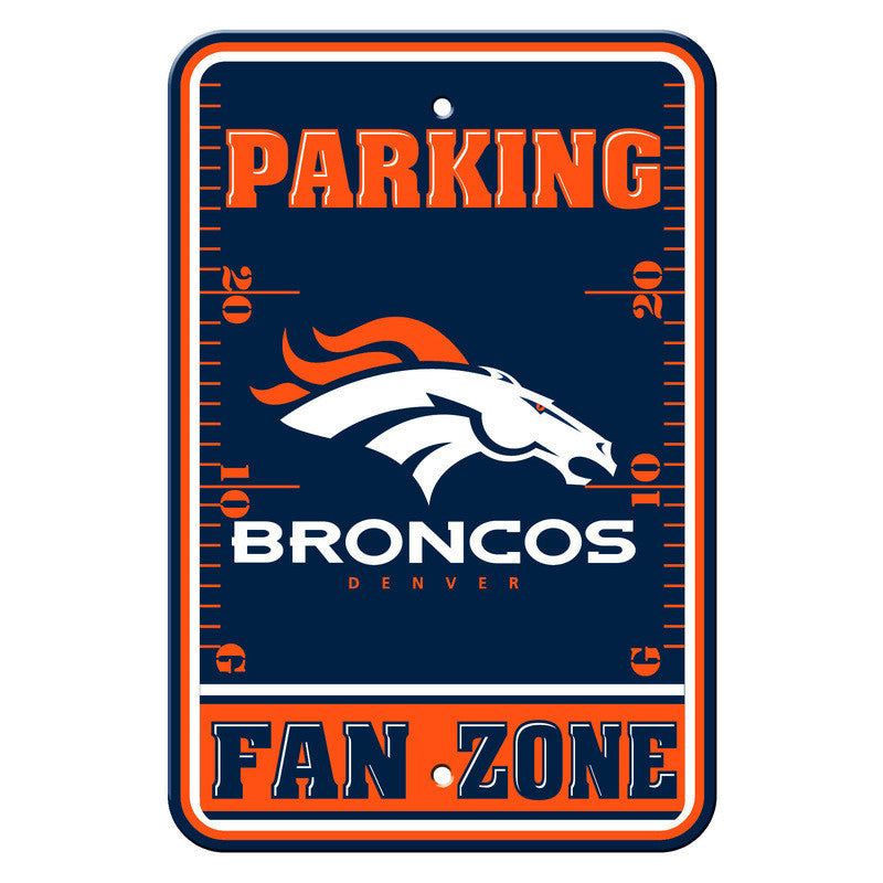 Denver Broncos 12x18 Plastic Fan Zone Sign