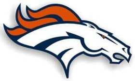 "Denver Broncos 12"" Right Logo Car Magnet"