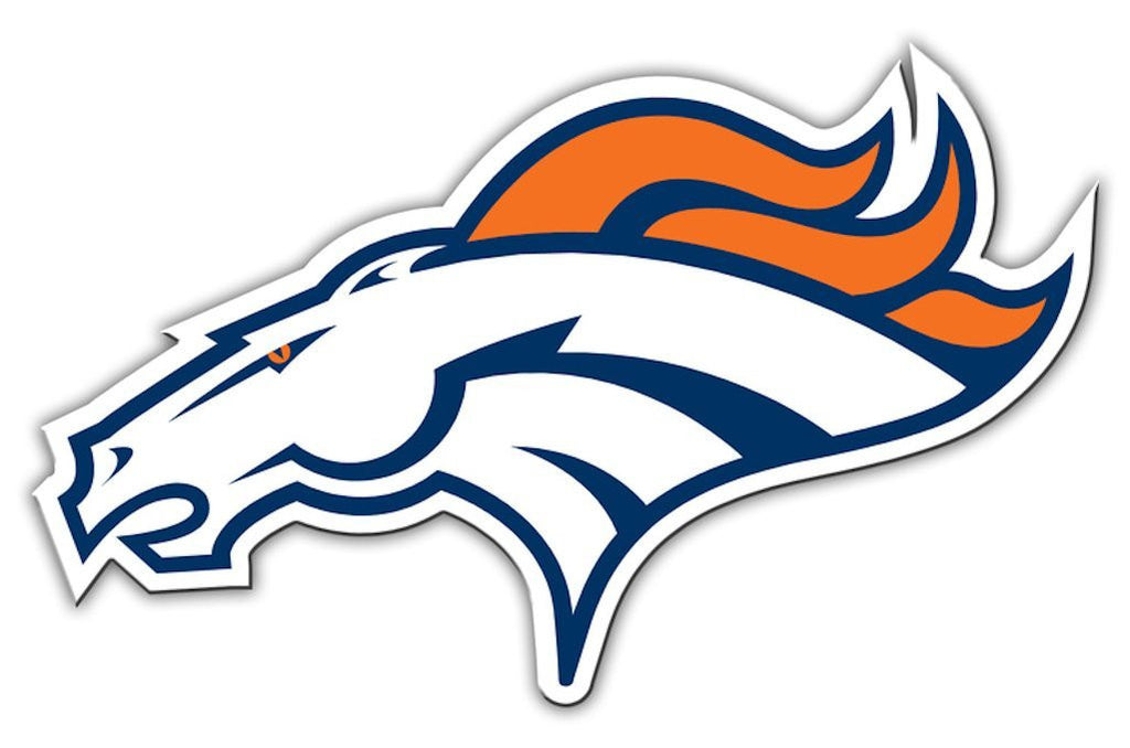 "Denver Broncos 12"" Left Logo Car Magnet"
