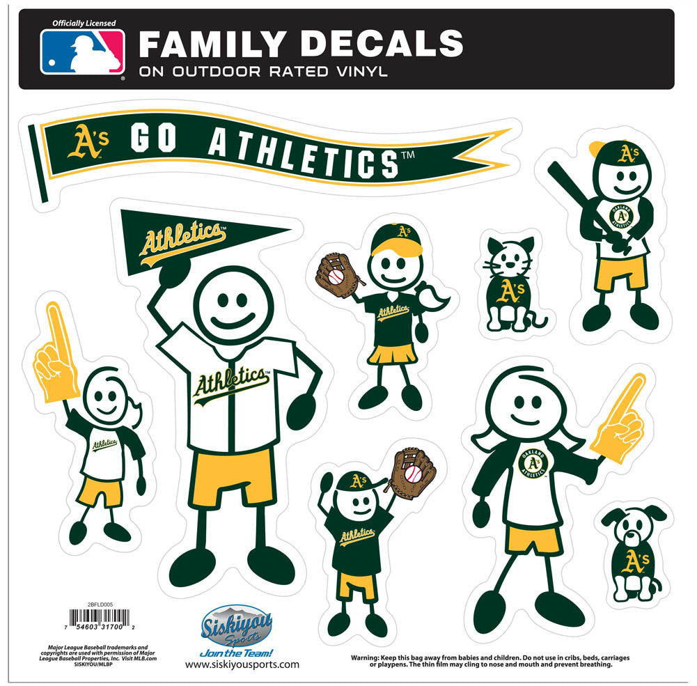 A'S 2ND EDTN FAM DECAL LG