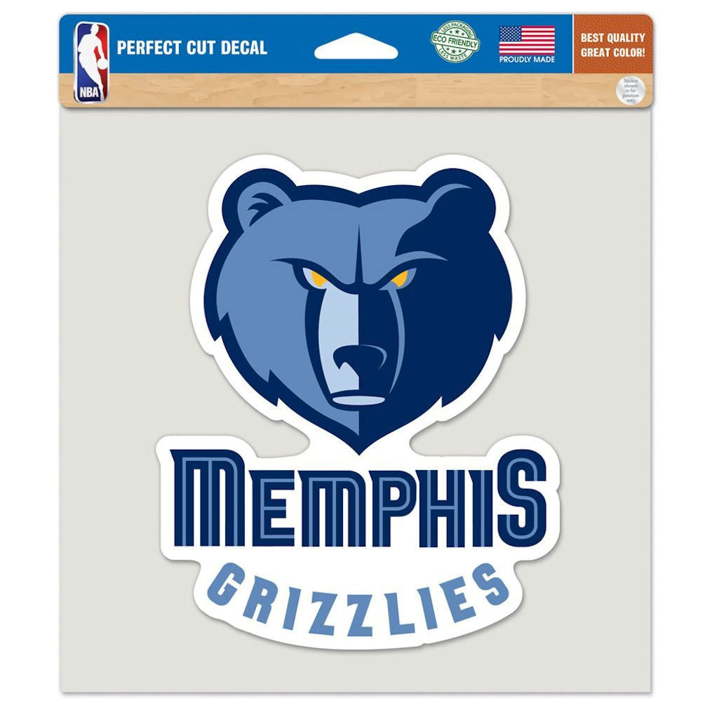"Memphis Grizzlies Die-cut Decal - 8""x8"" Color"