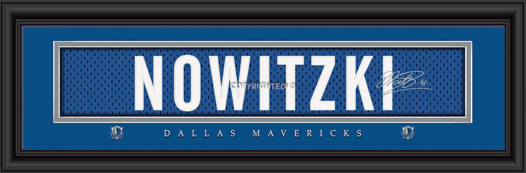 "Dallas Mavericks Dirk Nowitzki Print - Signature 8""x24"""