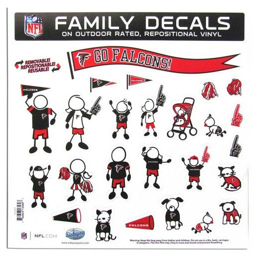 "Atlanta Falcons 11""x11"" Family Car Decal Sheet"