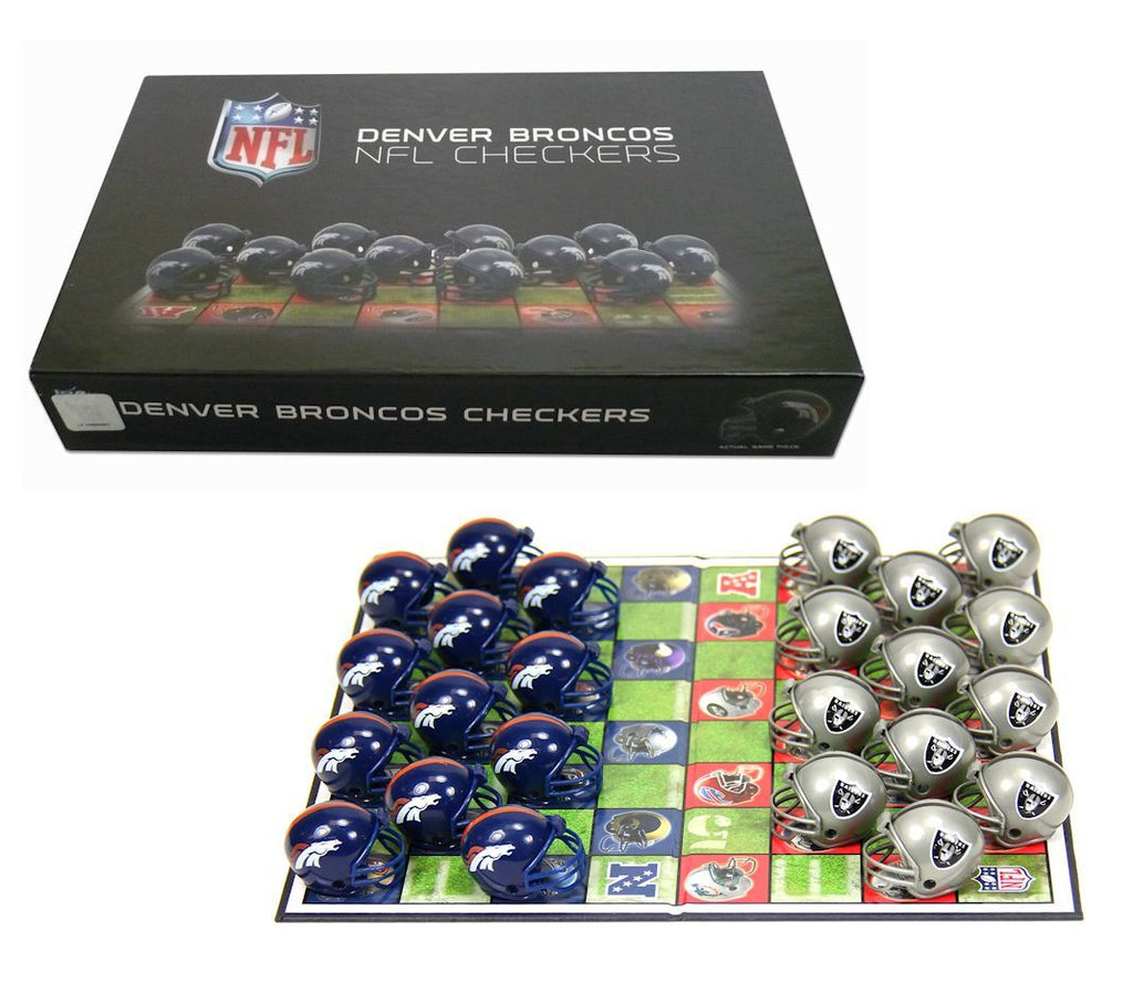 Denver Broncos Checker Set