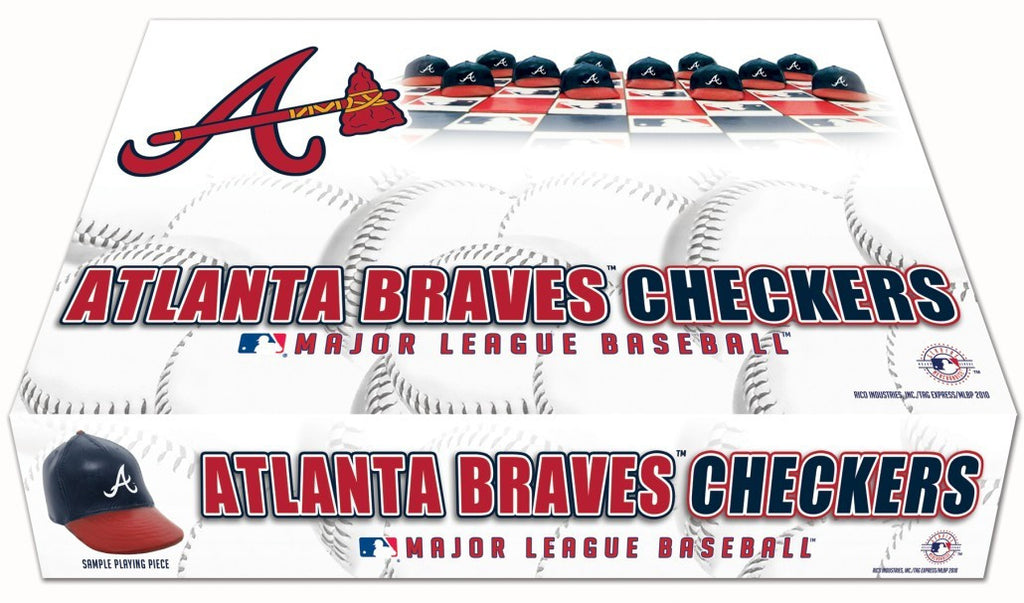 Atlanta Braves Checker Set