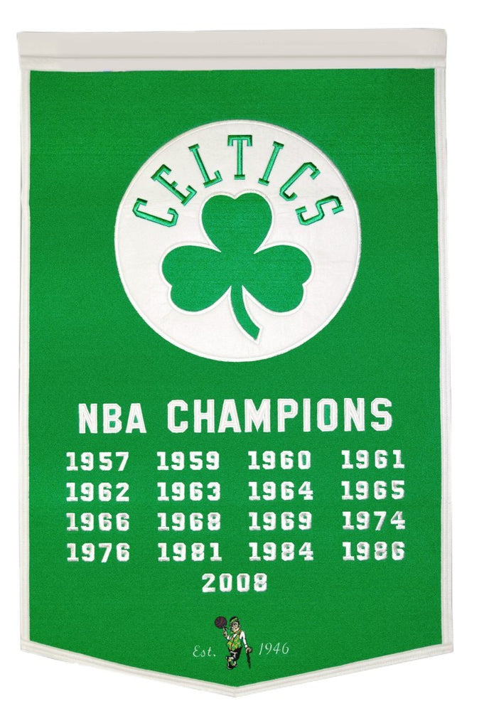 "Boston Celtics 24""x36"" Wool Dynasty Banner"