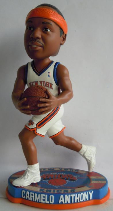 New York Knicks Carmelo Anthony Forever Collectibles Basketball Base Bobble Head
