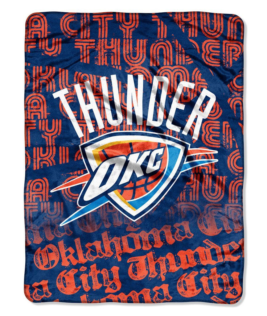 "Oklahoma City Thunder 46"" x 60"" Micro Raschel Throw Blanket - Redux Design"