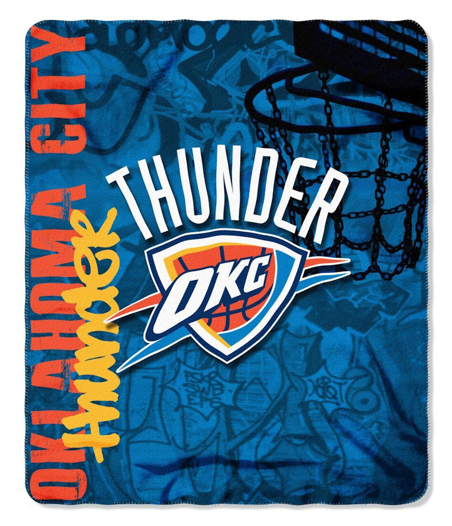 Oklahoma City Thunder 50x60 Fleece Blanket - Hard Knock Design