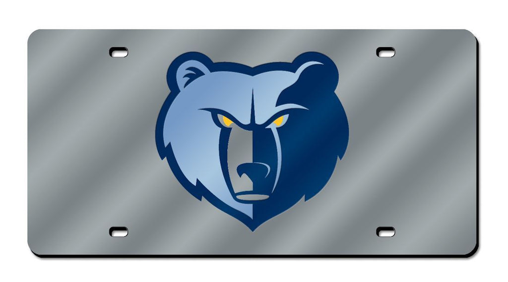 Memphis Grizzlies Laser Cut Silver License Plate