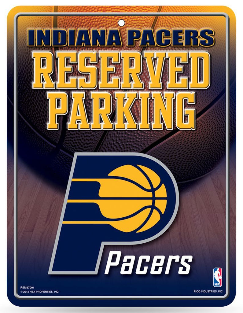 Indiana Pacers Metal Parking Sign