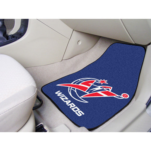 Washington Wizards NBA 2-Piece Printed Carpet Car Mats (18x27)