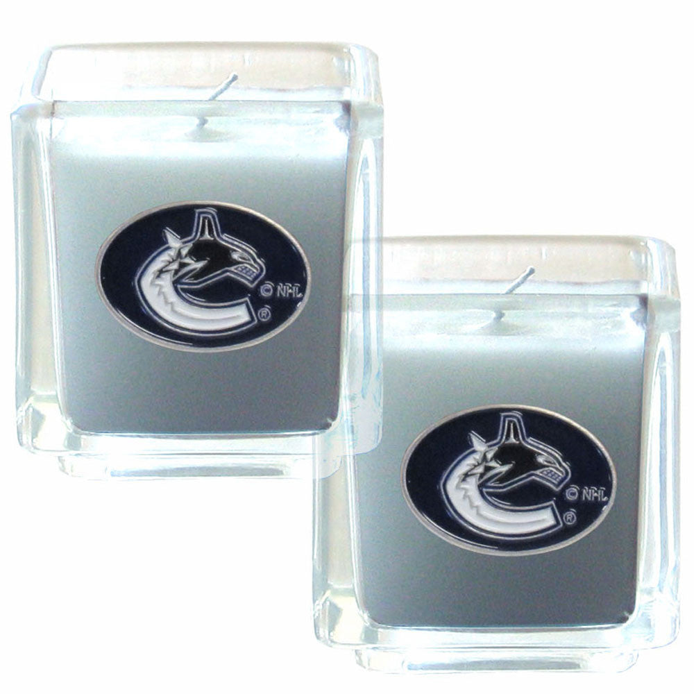 CANUCKS 2PK CANDLE
