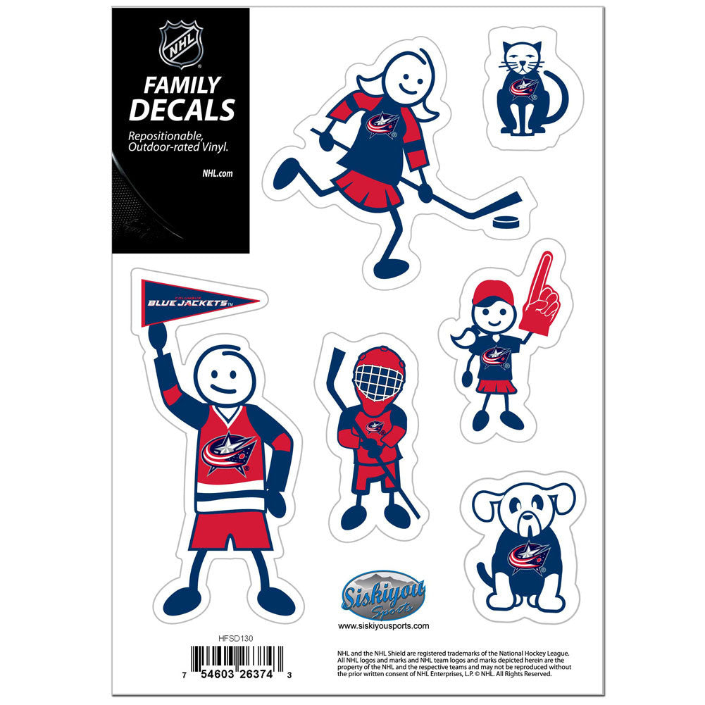BLUE JACKETS FAM DECAL SM